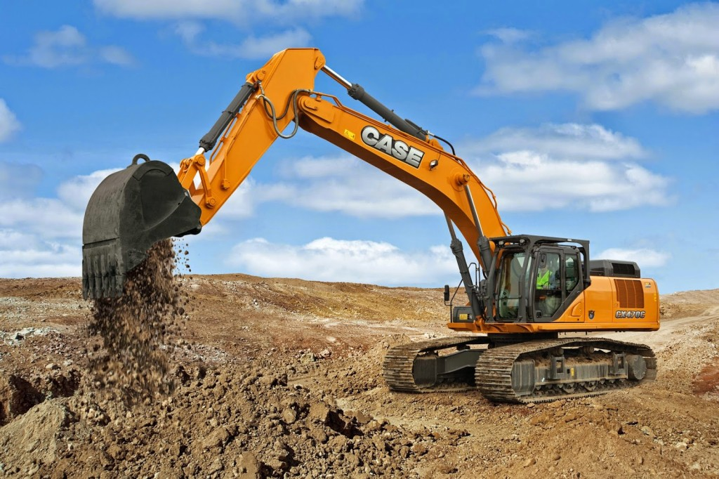 Excavator use in landscape