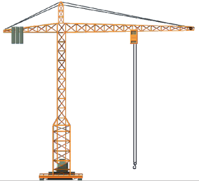 Tower crane in construction