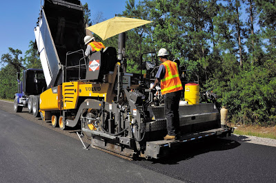 Road Paver in construction