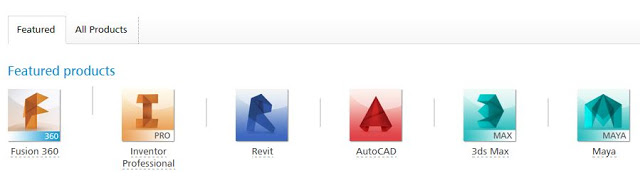 Autodesk Products ( image source autodesk )