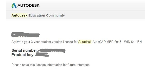 serial number and prodcut key autodesk