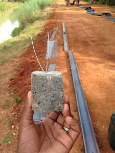 50 mm Cover block used in concrete road